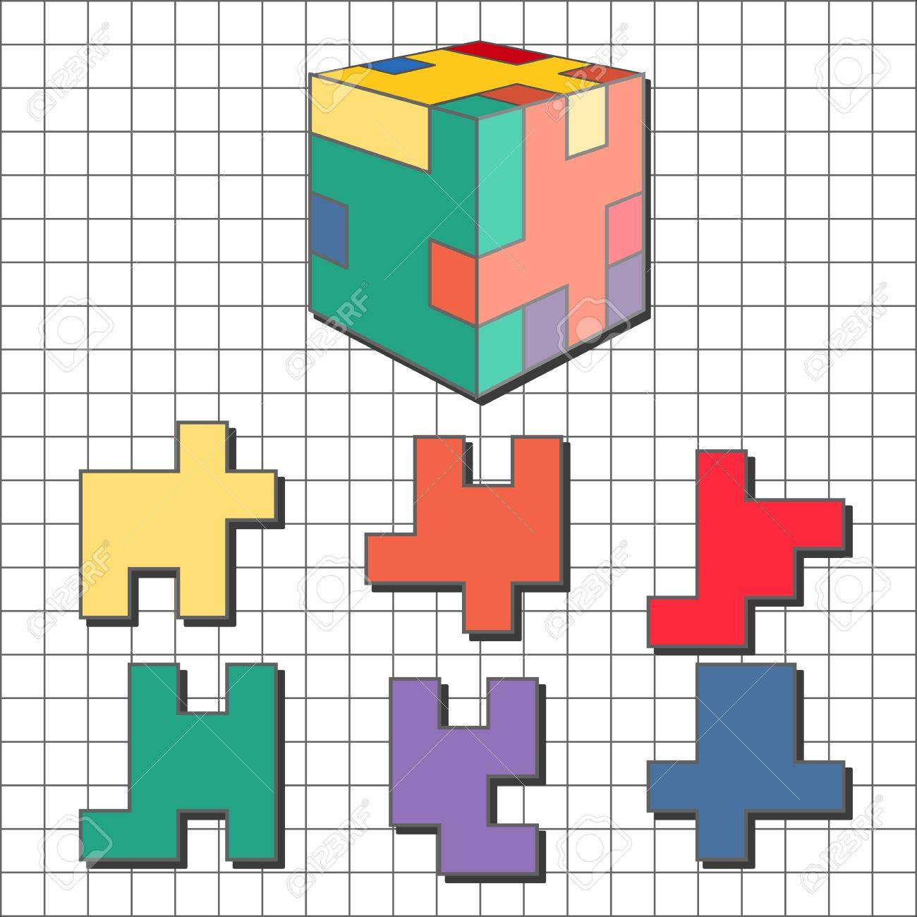 Puzzle tetris cube royalty free cliparts vectors and stock puzzle tetris cube stock vector 21003184 ccuart Gallery