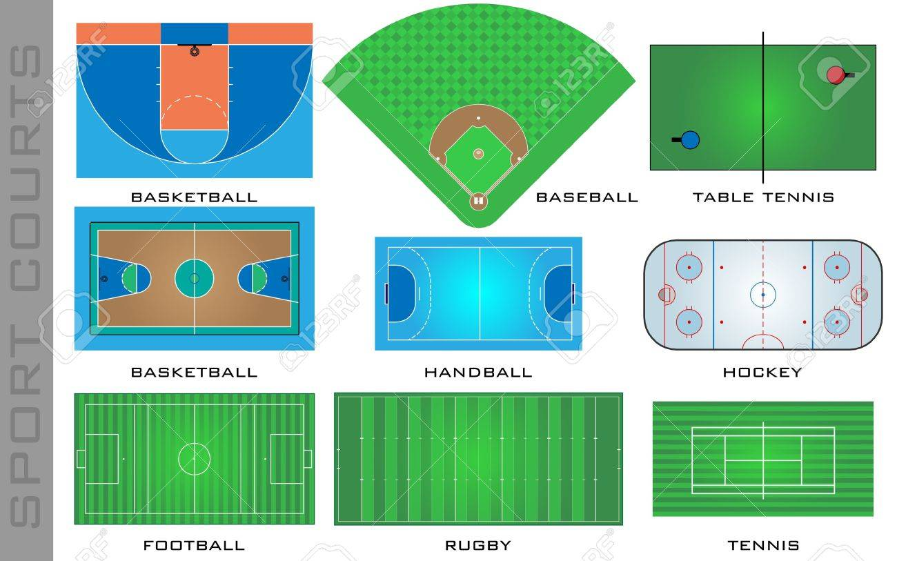 Sport courts Stock Vector - 21035273