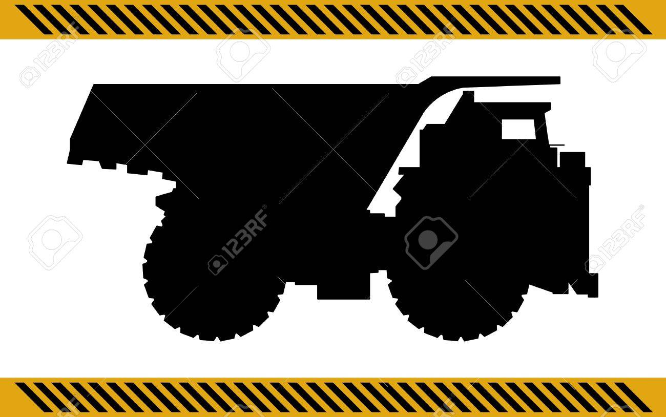 Dump truck construction machinery equipment isolated Stock Vector - 21035538
