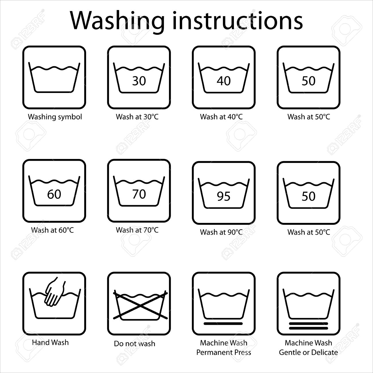 Washing instruction Stock Vector - 22066104
