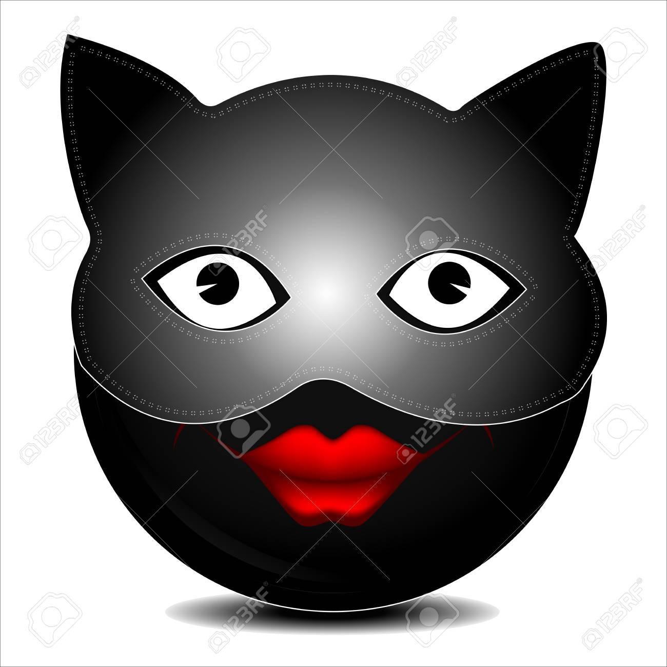 Cat Caractère De Sourire De Masque Clip Art Libres De Droits
