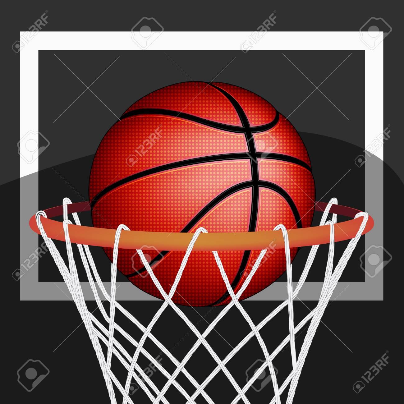 Basketball ball, vector Stock Vector - 29975069