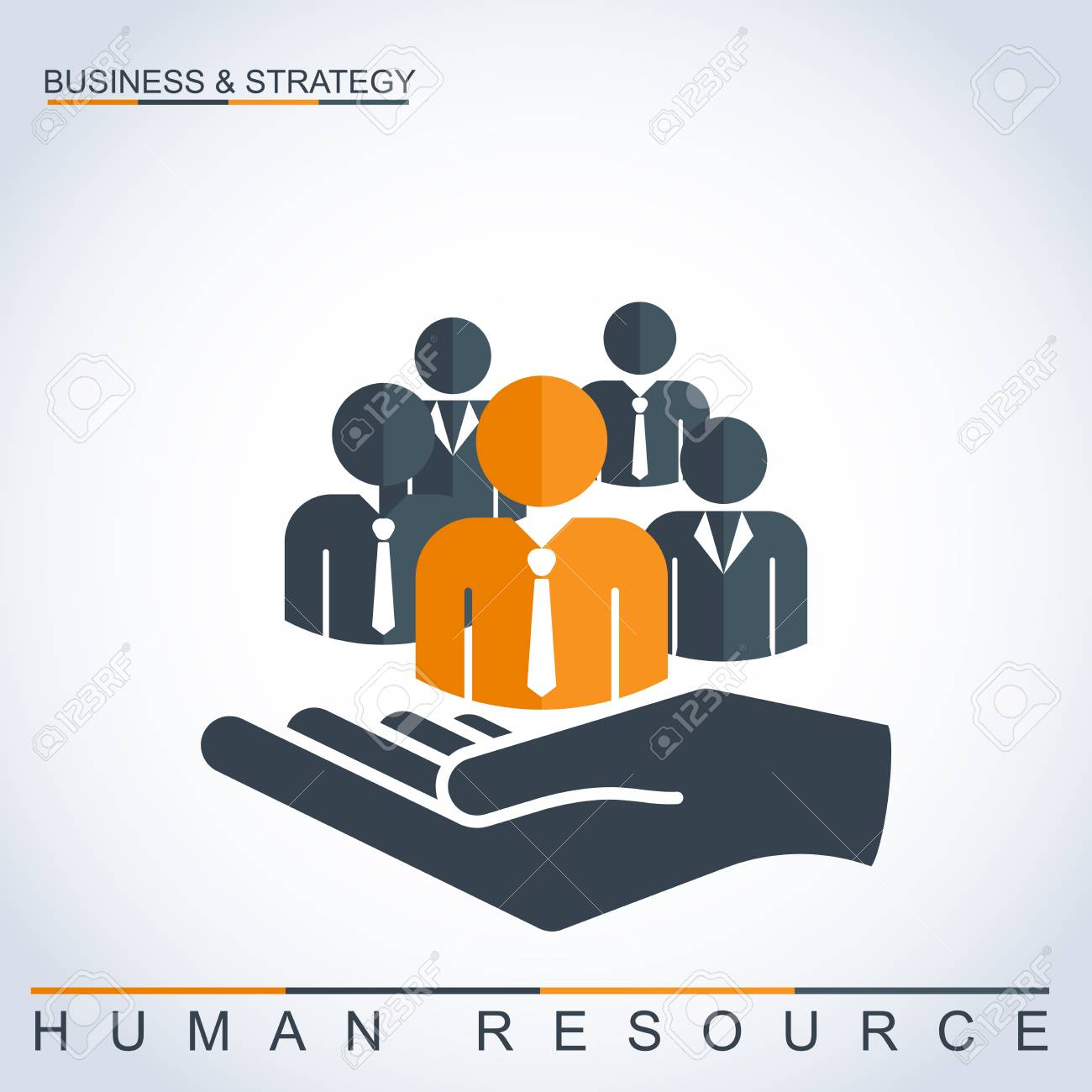 Human resources management concept  Businessmen and businesswomen