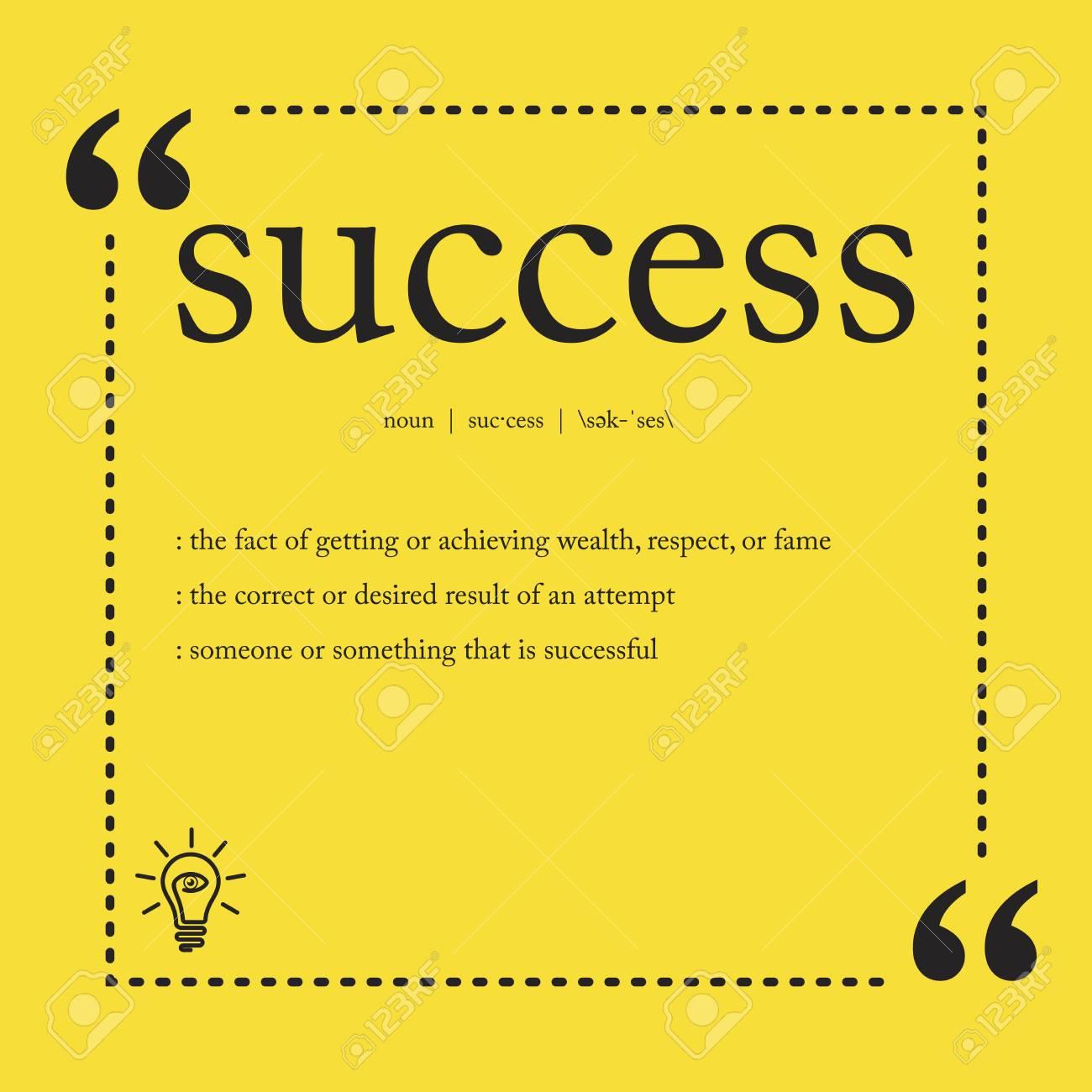 Success definition - 121023525