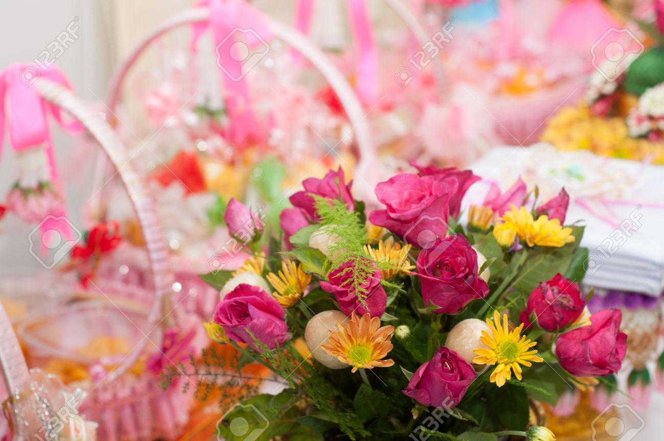 Fleur D Amour Romantique Pour La Ceremonie De Mariage Banque D
