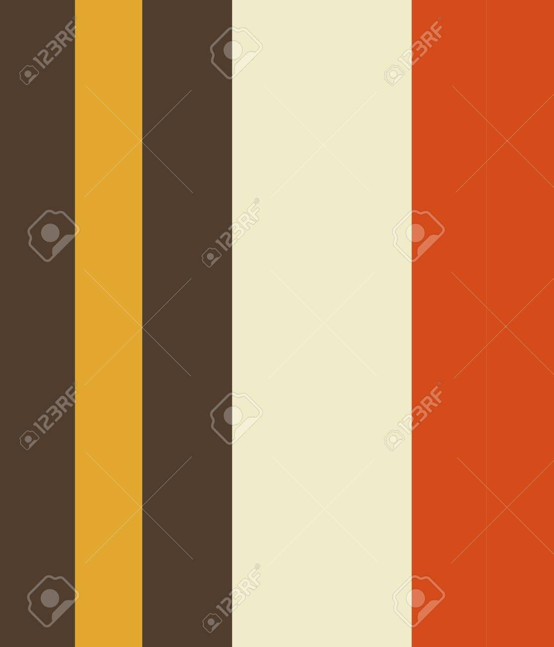 Vintage Orange Grey Yellow Cream Striped Pattern background Stock Photo - 13596748
