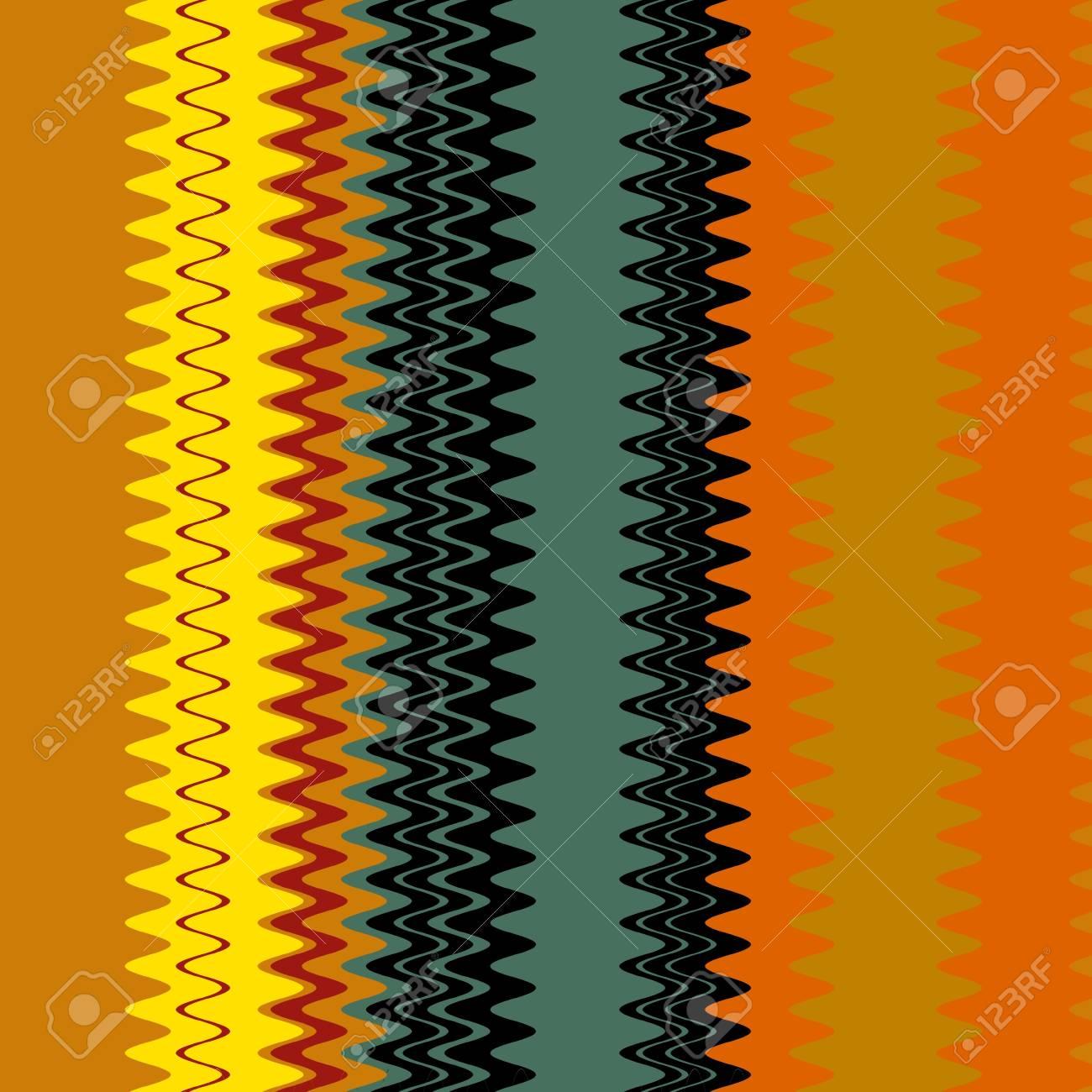 Chevron Colorful Fashion Zigzag Stripes Art Design Stock Photo - 14112043