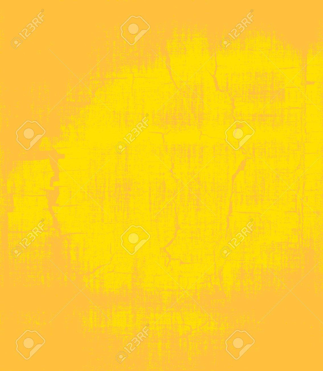 grunge yellow painted wall texture background Stock Photo - 14294992