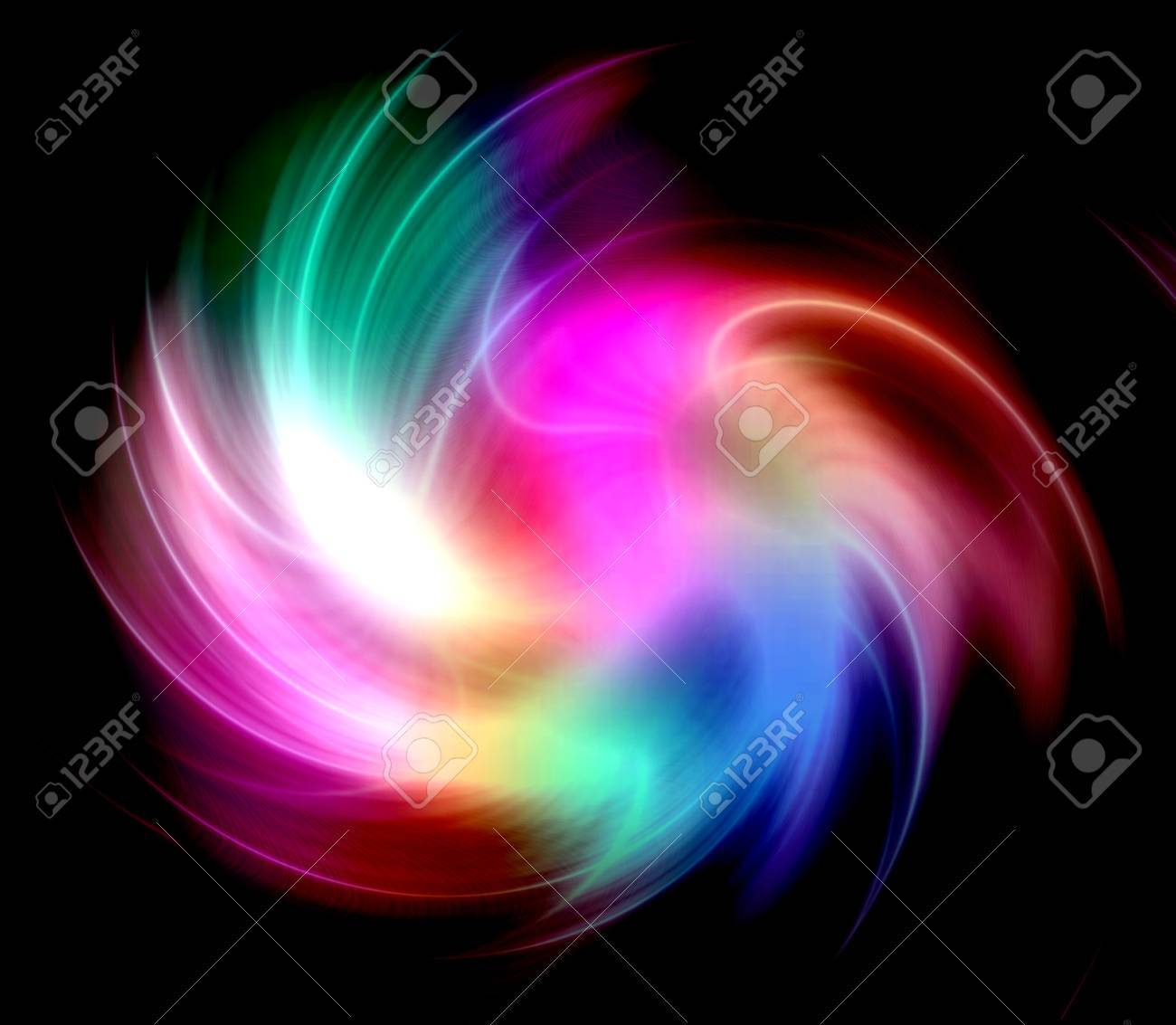 Colorful lights abstract over black background Stock Photo - 14294931