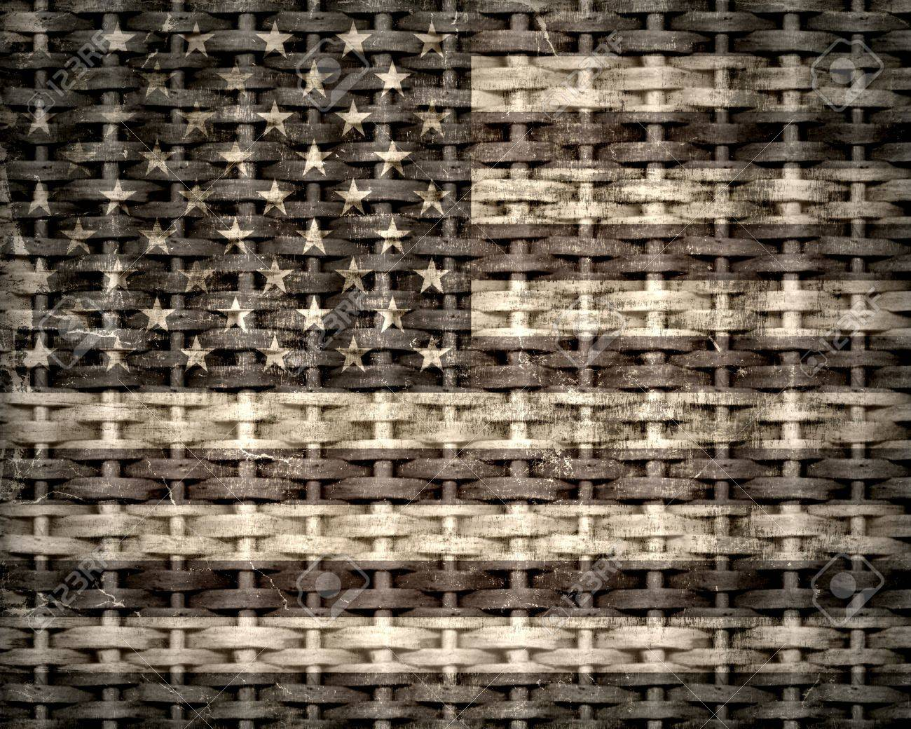 4362dc33760 American flag vintage textured background Stock Photo - 15064714