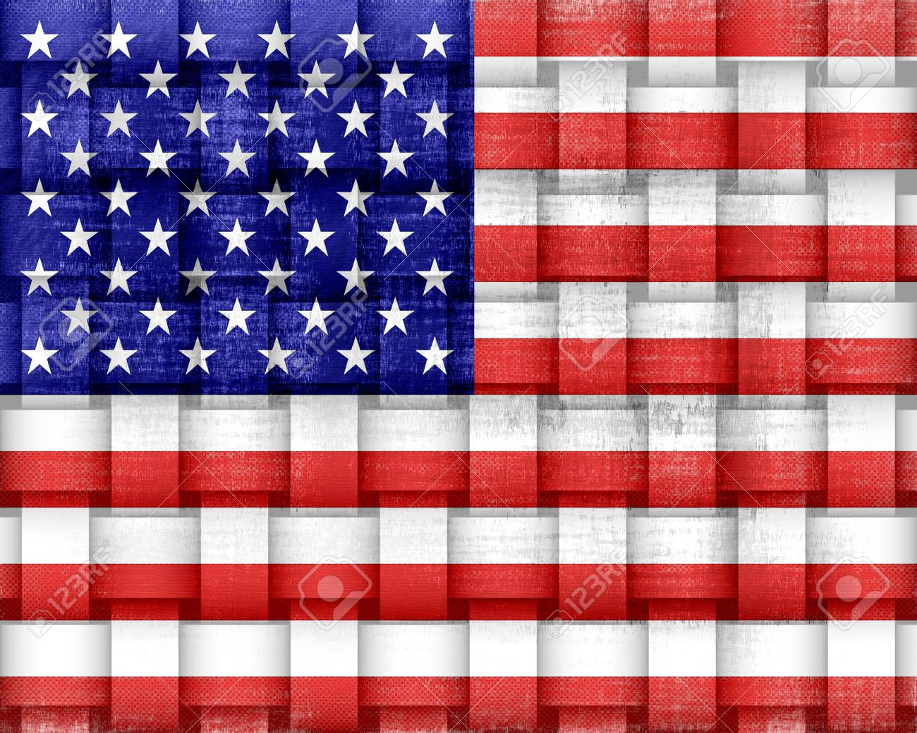 American Flag Vintage Stock Photo - 15064727