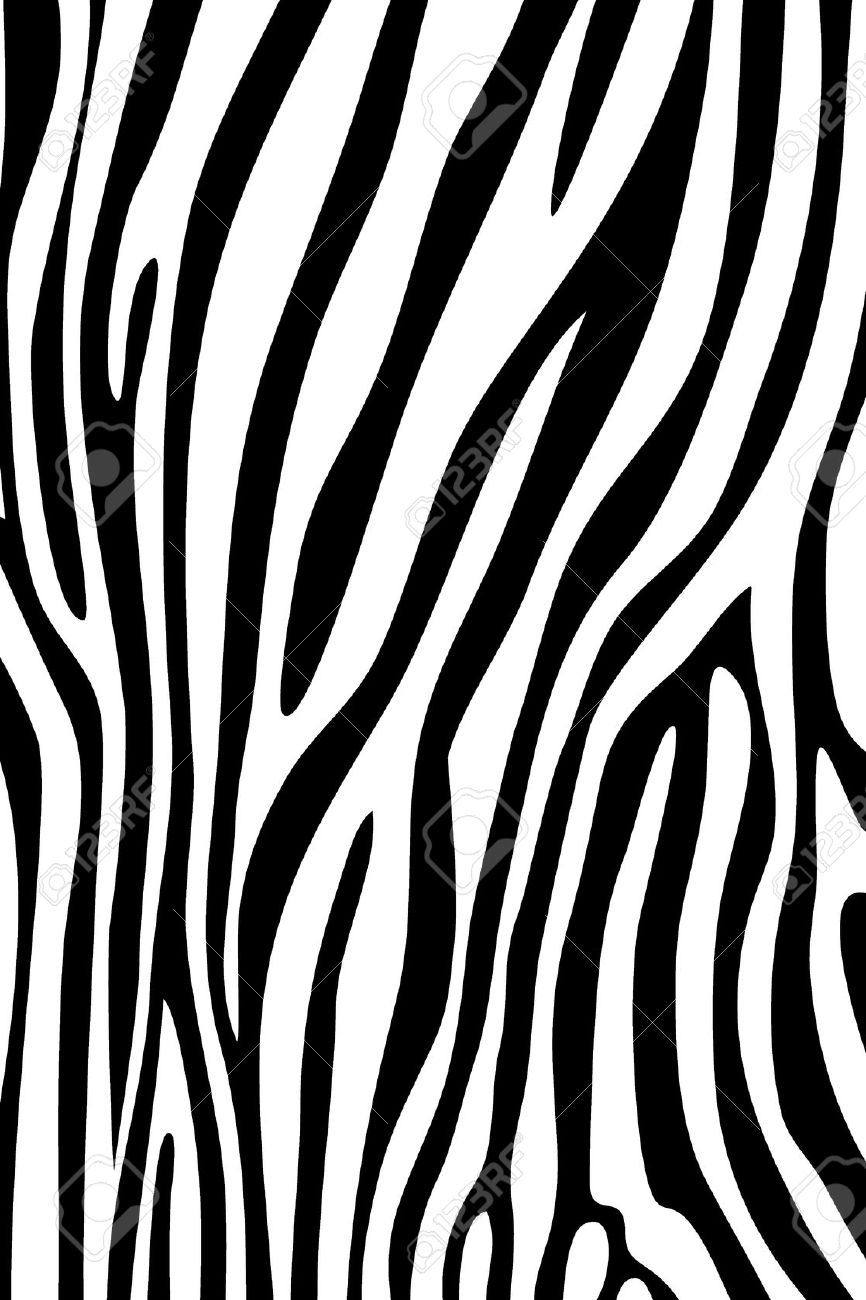 Zebra print wallpaper black and white