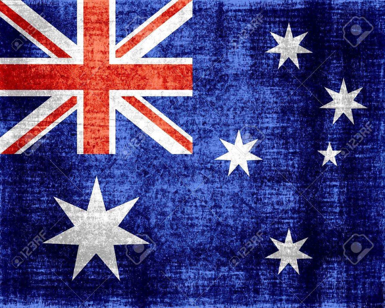 bc2b0b5b05 Australia flag grunge Stock Photo - 15447400