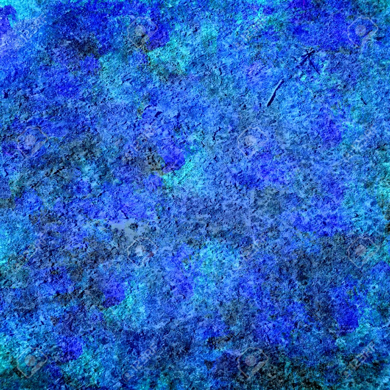 Art Blue Abstract Painting Grunge Background