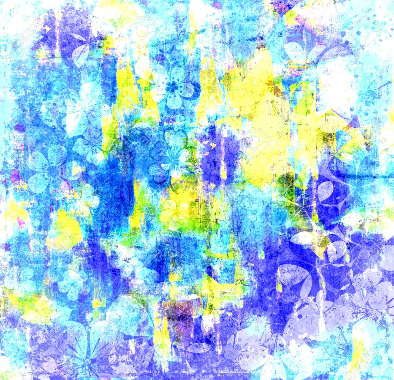 Art Cool Colors Abstract Painting Texture Background