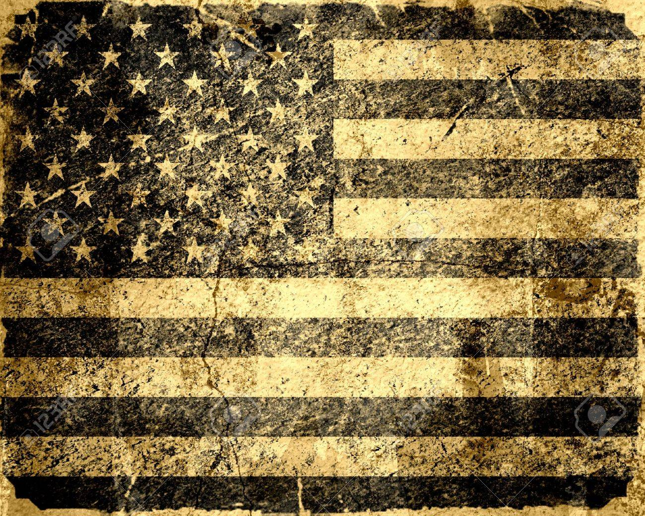 American flag vintage textured background Stock Photo - 15826654