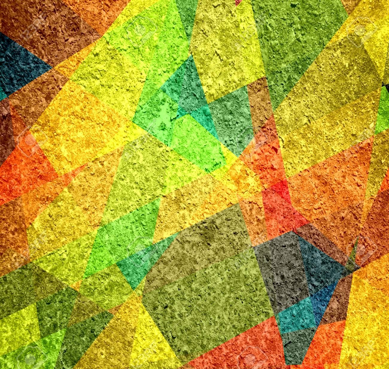 Geometric grunge background in retro colors Stock Photo - 15851658