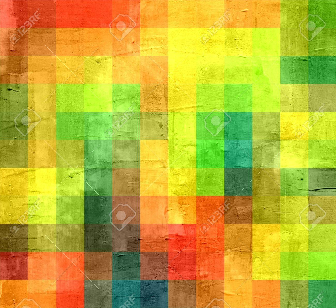 Geometric grunge background in retro colors Stock Photo - 15851550