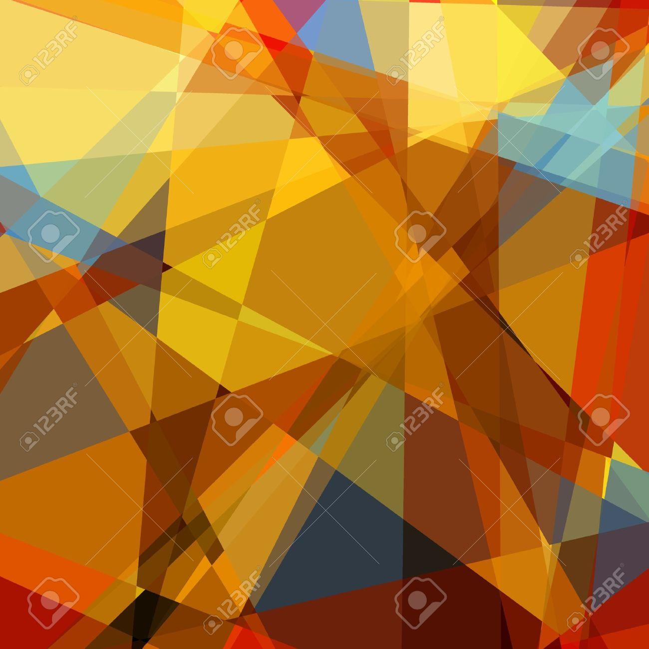Retro colorful cubism art background Stock Photo - 15872735