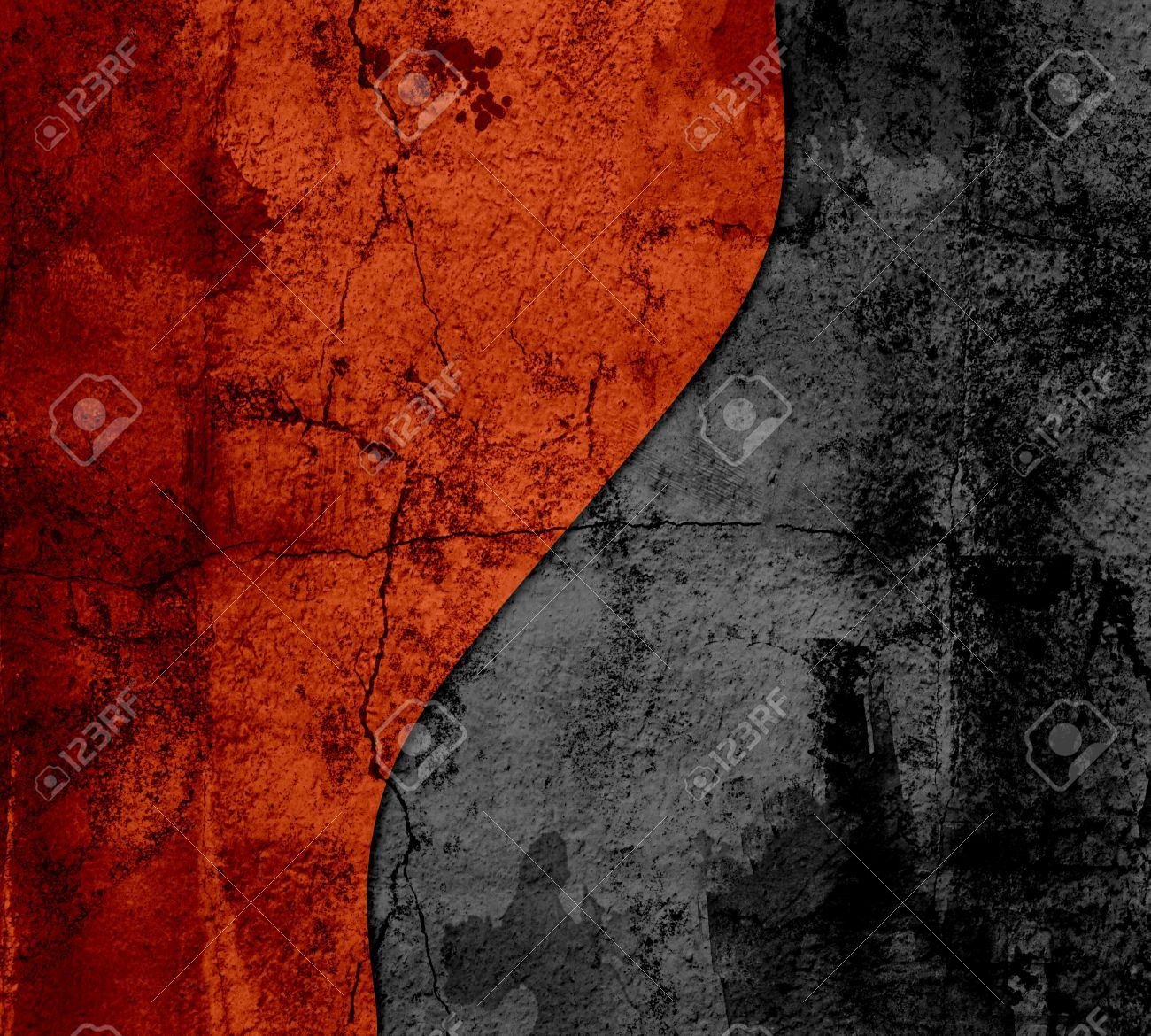 Black And Orange Abstract Art Texture Background