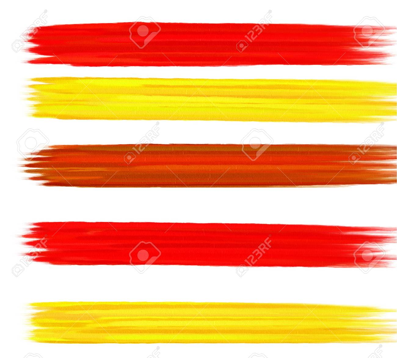 Brush strokes banners Stock Photo - 17496903