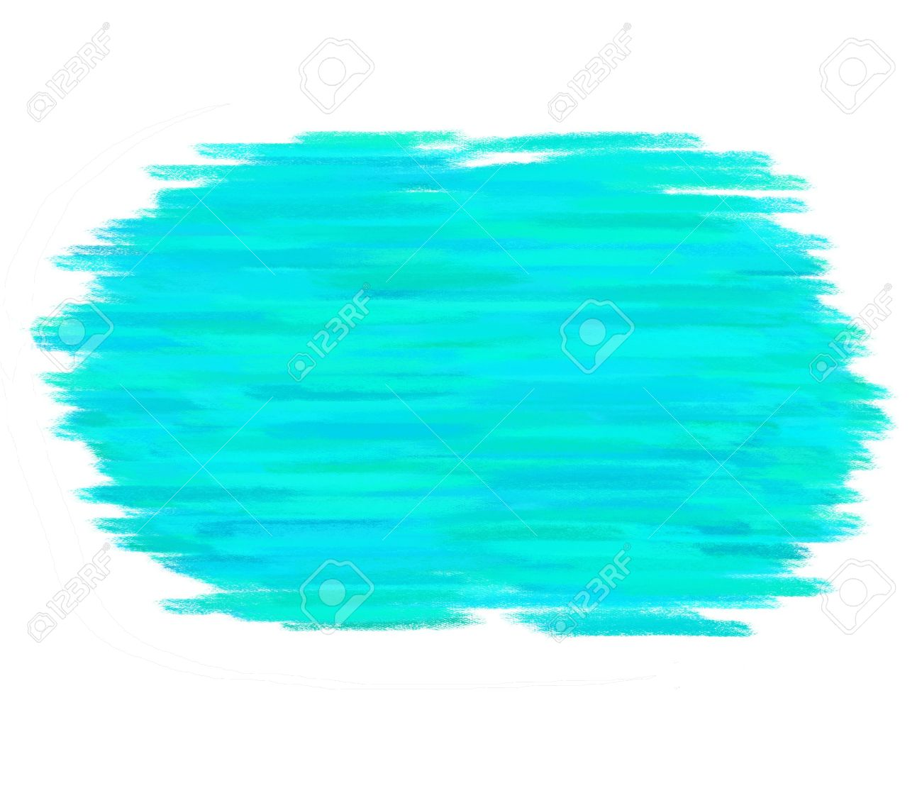 Amazing Paint Brush Texture Aqua Spot Blotch Isolated Stock Photo   17516021