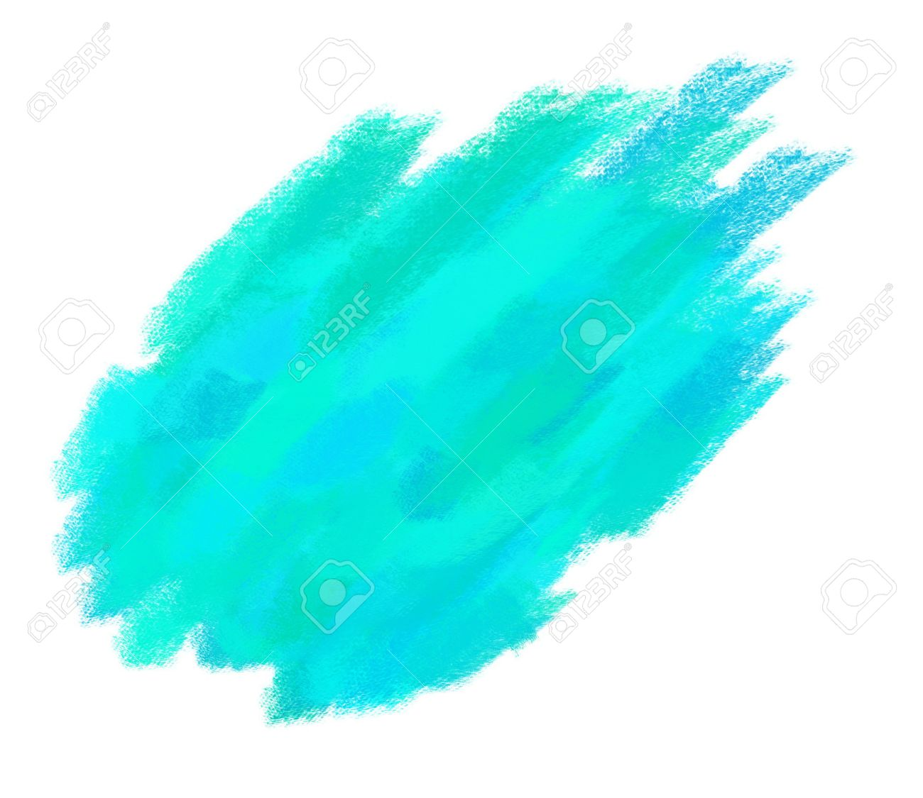 Paint Brush Texture Aqua Spot Blotch Isolated Stock Photo   17516017