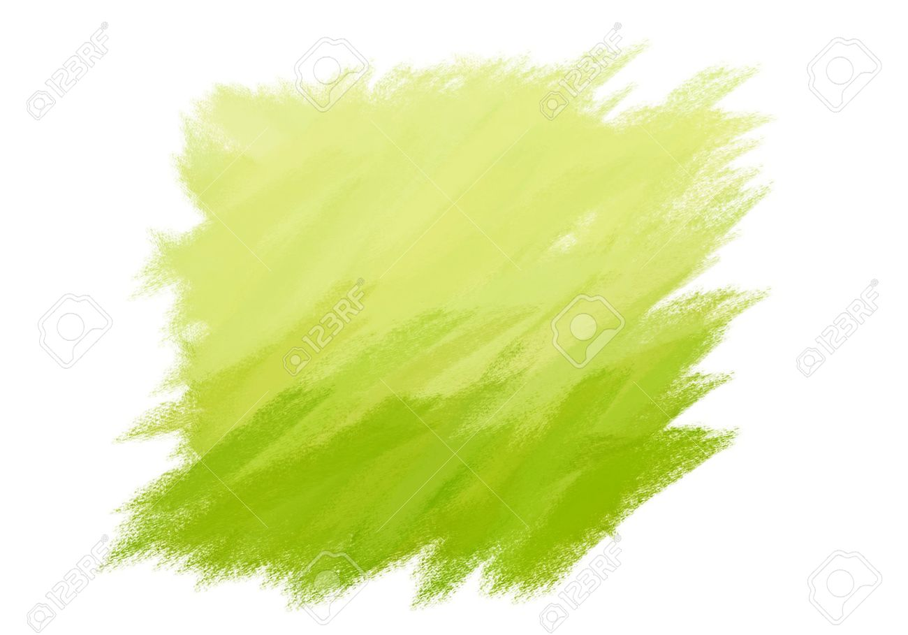 Paint Brush Texture Lime Spot Blotch Isolated Stock Photo Picture