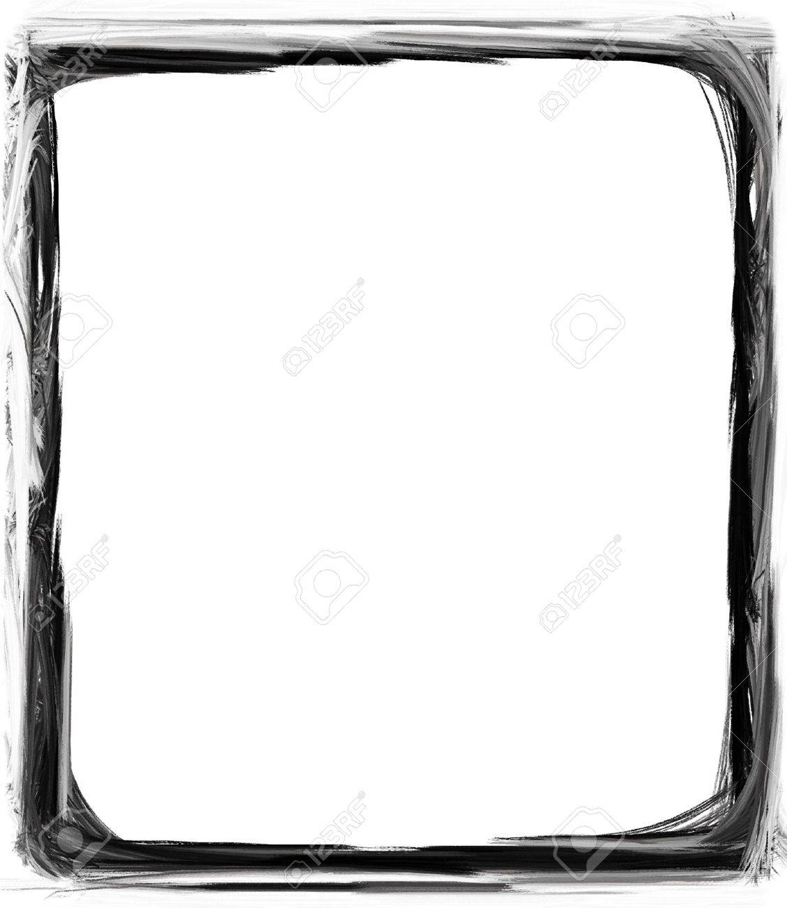 Computer designed grunge border or frame Stock Photo - 17517538