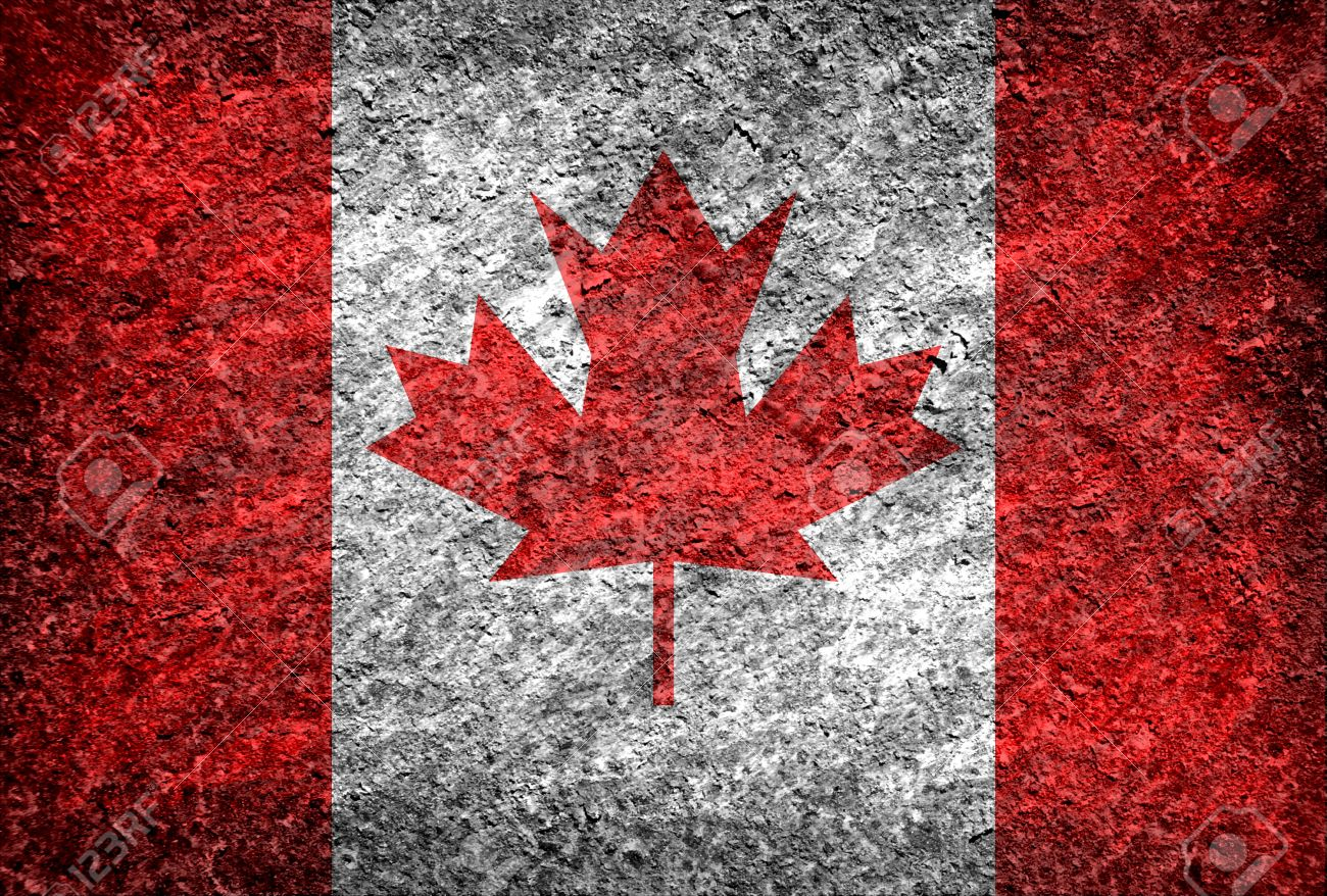 14f685ff6d Grunge Canada flag background Stock Photo - 18127279