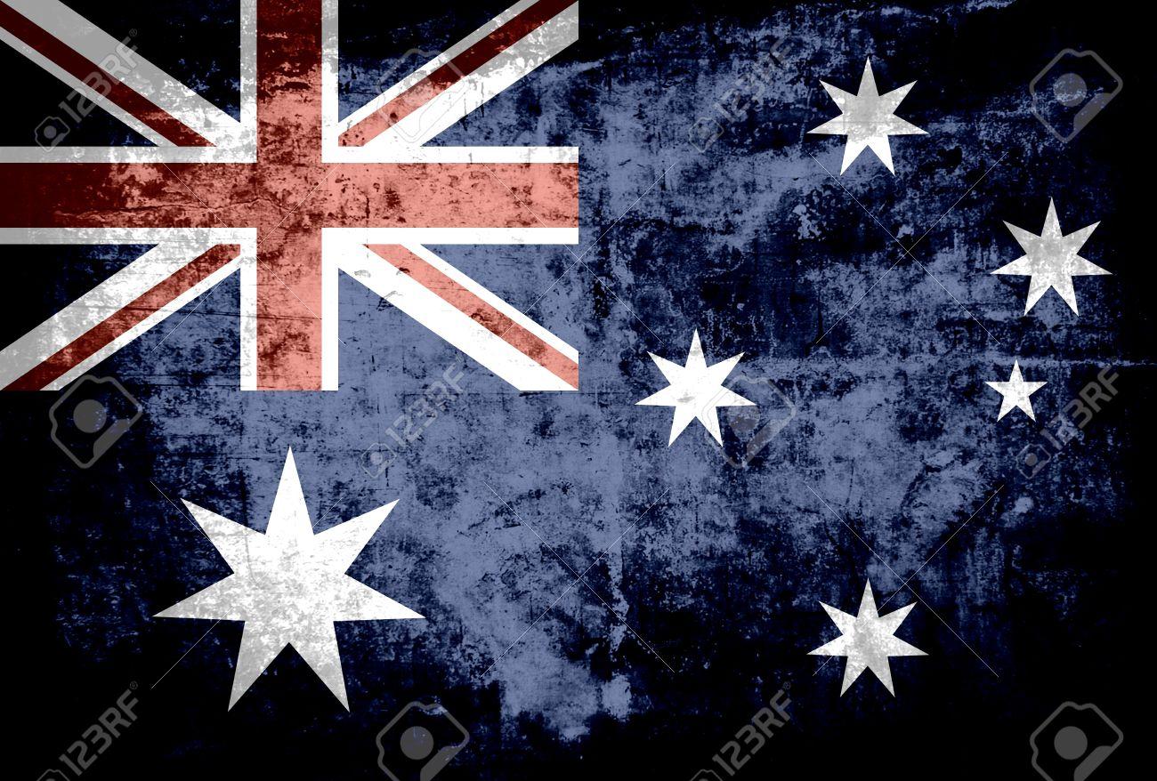 7928ae826a Grunge Australia flag background Stock Photo - 18127261