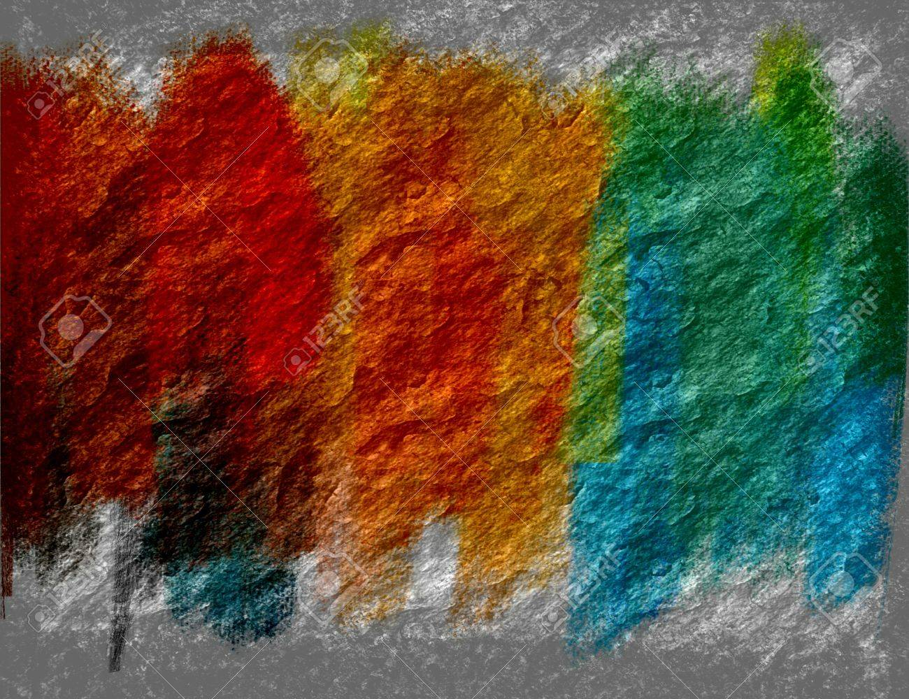 Multi Color Paint Brush On Stone Wall Texture Background Stock Photo Picture And Royalty Free Image Image 18186336