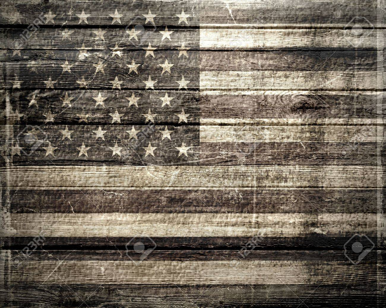 9c96b554e9 American Flag On A Wheatered Wooden Vintage Background Stock Photo -  28116491