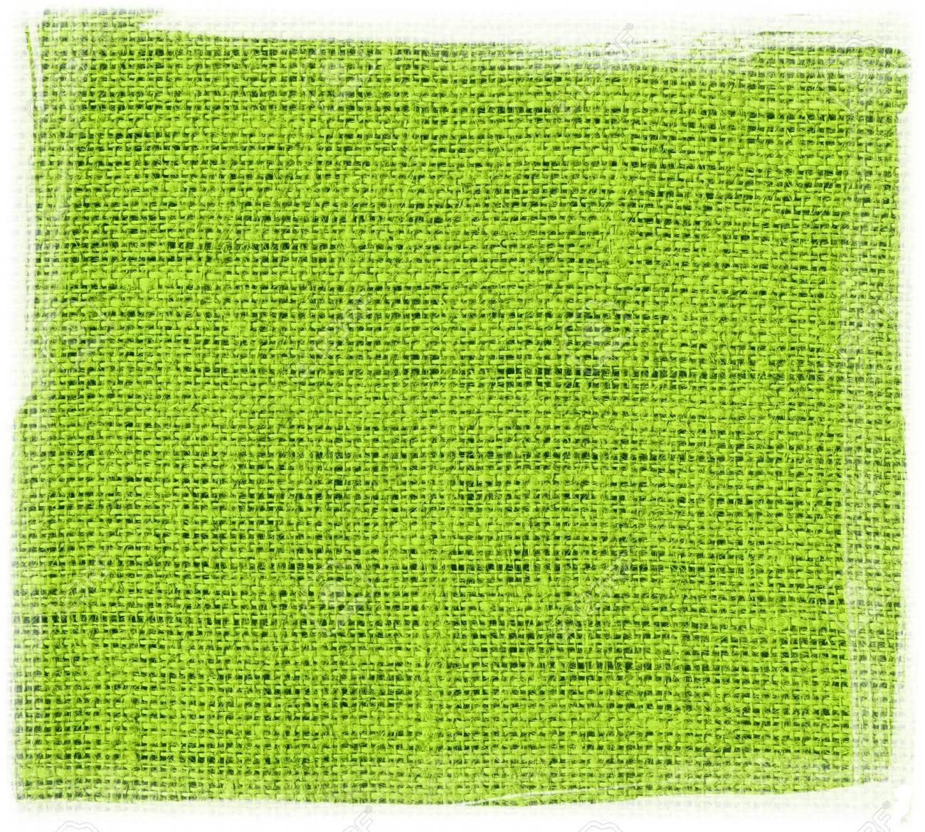 Lime Burlap Jute Fabric With Frame Textured Background Stock Photo ...