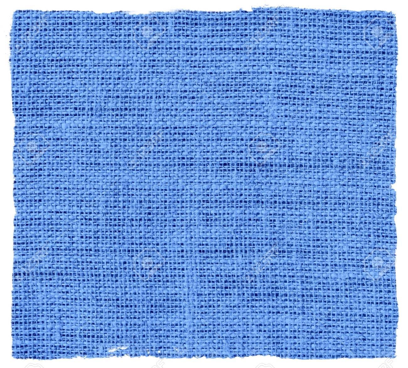 Tela De Yute De Arpillera Azul Cielo Con Fondo De Textura De Marco ...