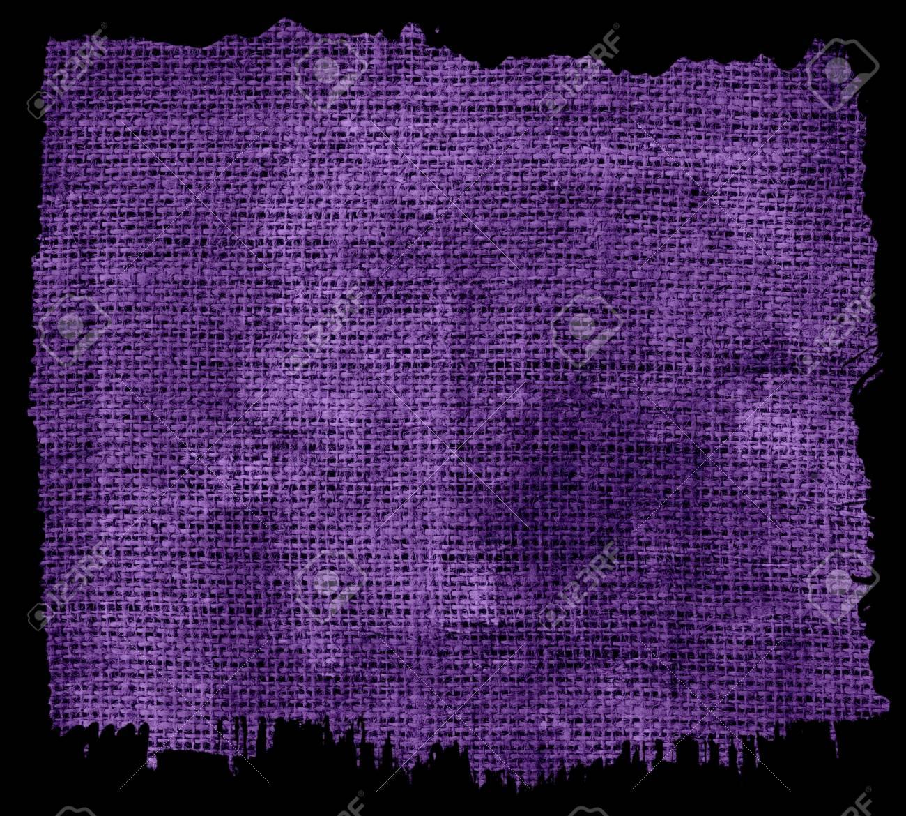 Grunge Púrpura Tejido De Arpillera De Yute Con Marco Con Textura De ...