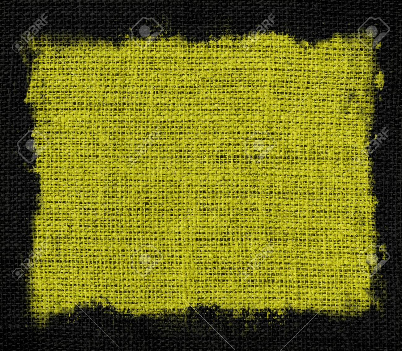 Lime Green Burlap Jute Fabric Canvas Background With Black Frame ...