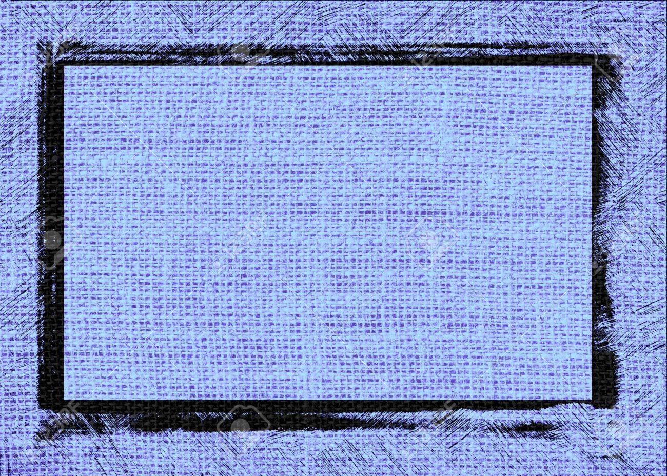 Vista Arpillera Azul Textura De Fondo Con Diseño De Marco Negro ...