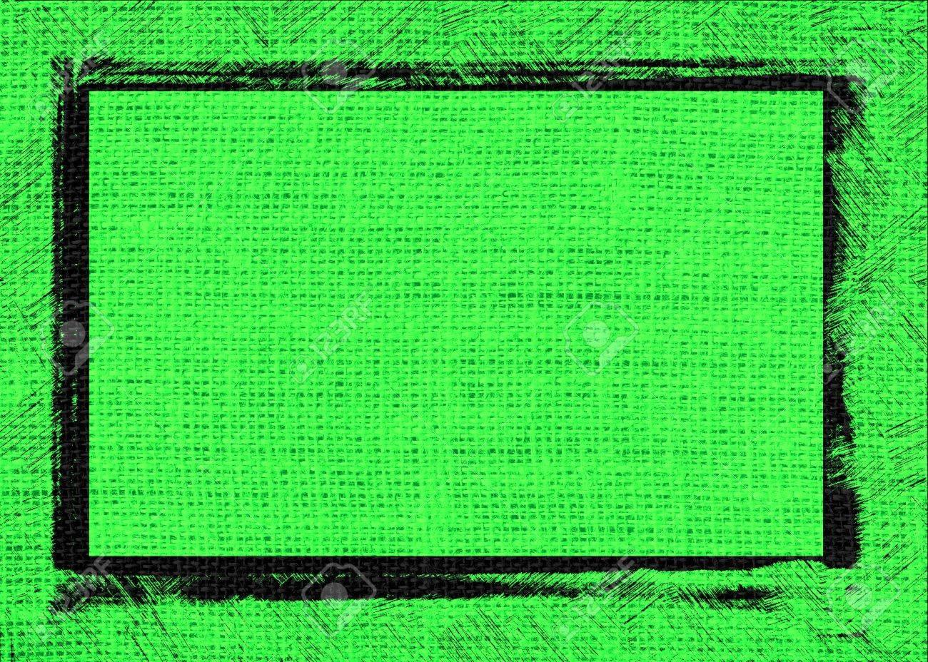 Cal Arpillera Textura De Fondo Verde Con Diseño De Marco Negro Fotos ...