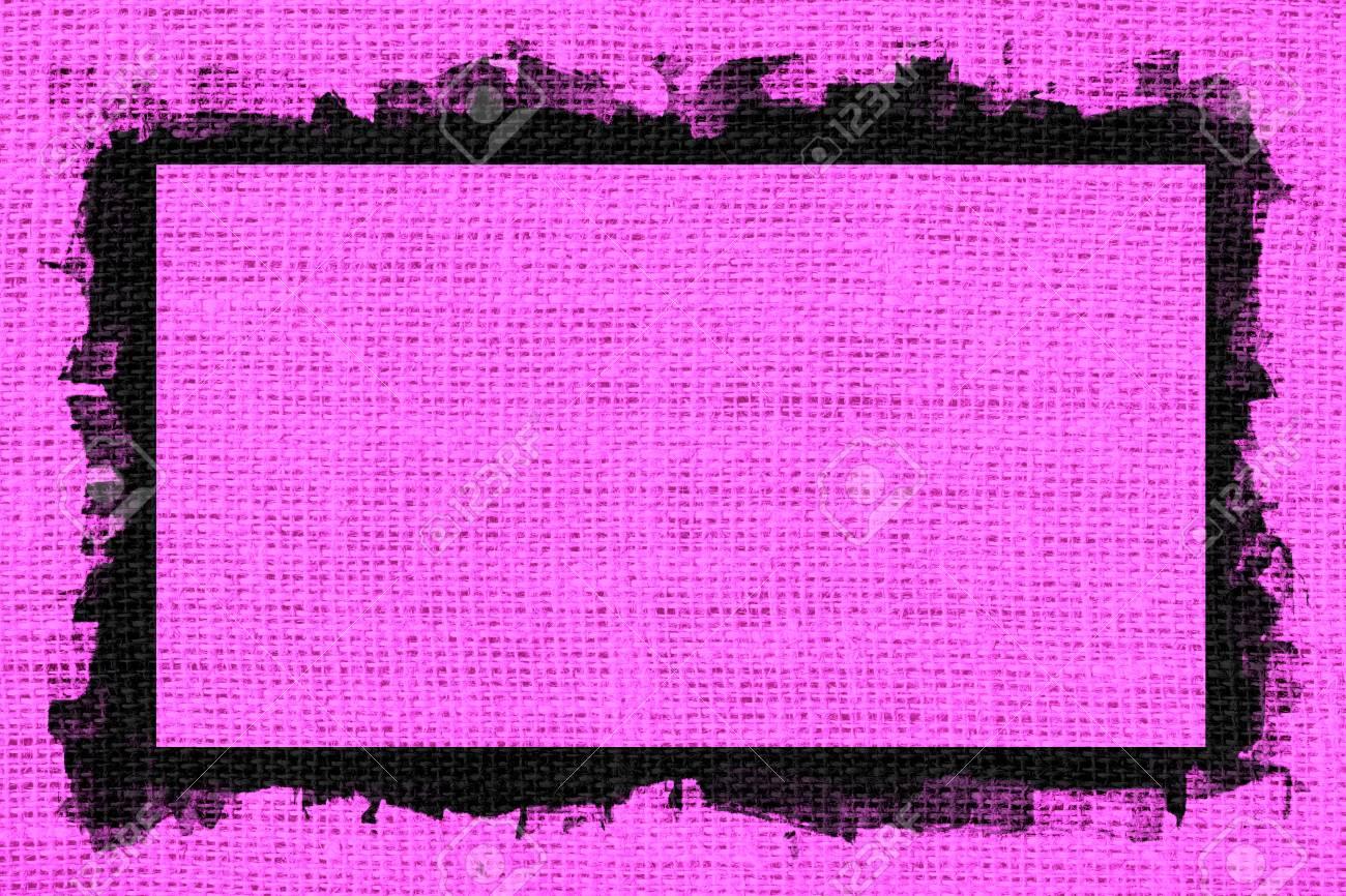 Rosa Arpillera Textura De Fondo Con Diseño De Marco Negro Fotos ...