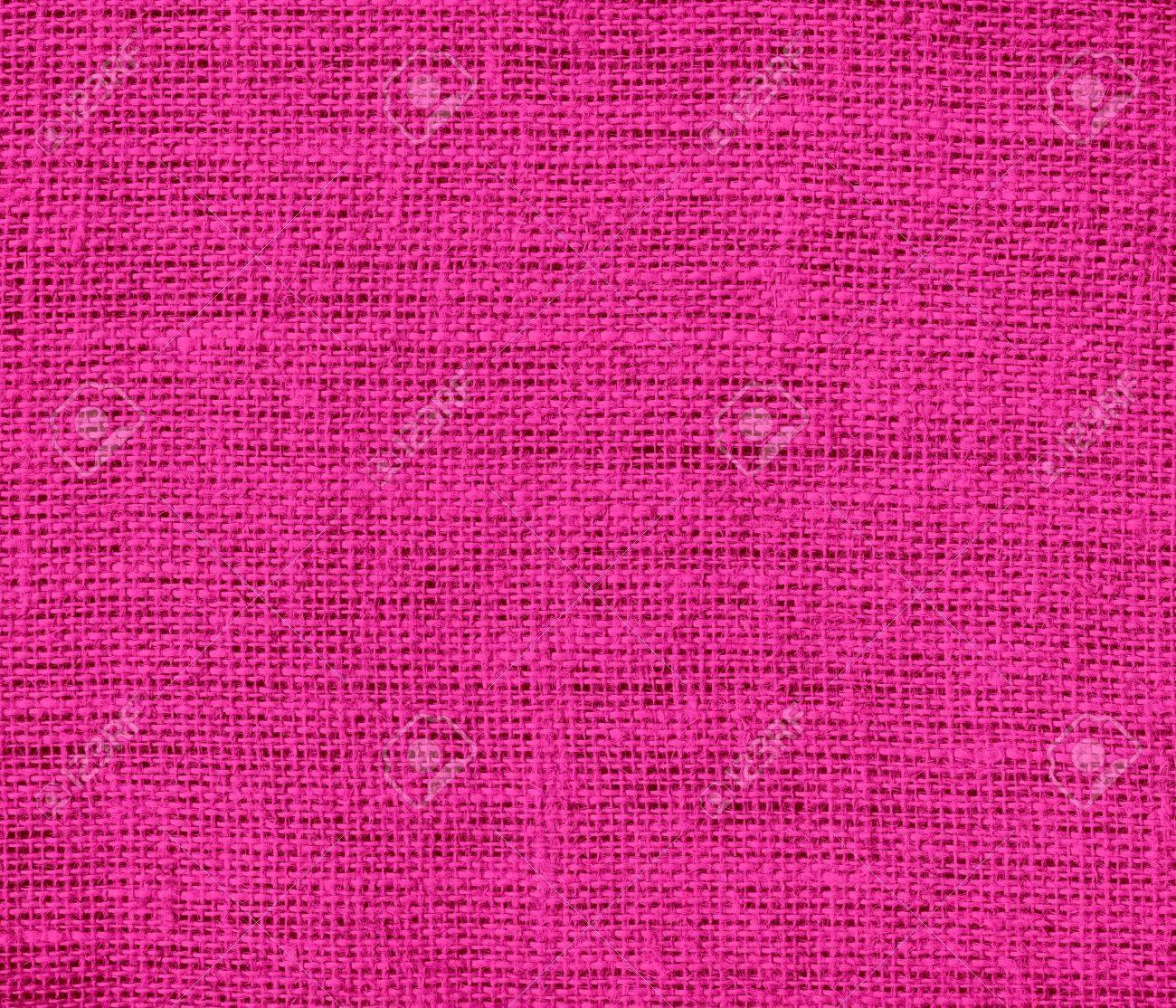 バービー ピンクの黄麻布のテクスチャ背景 の写真素材 画像素材 Image