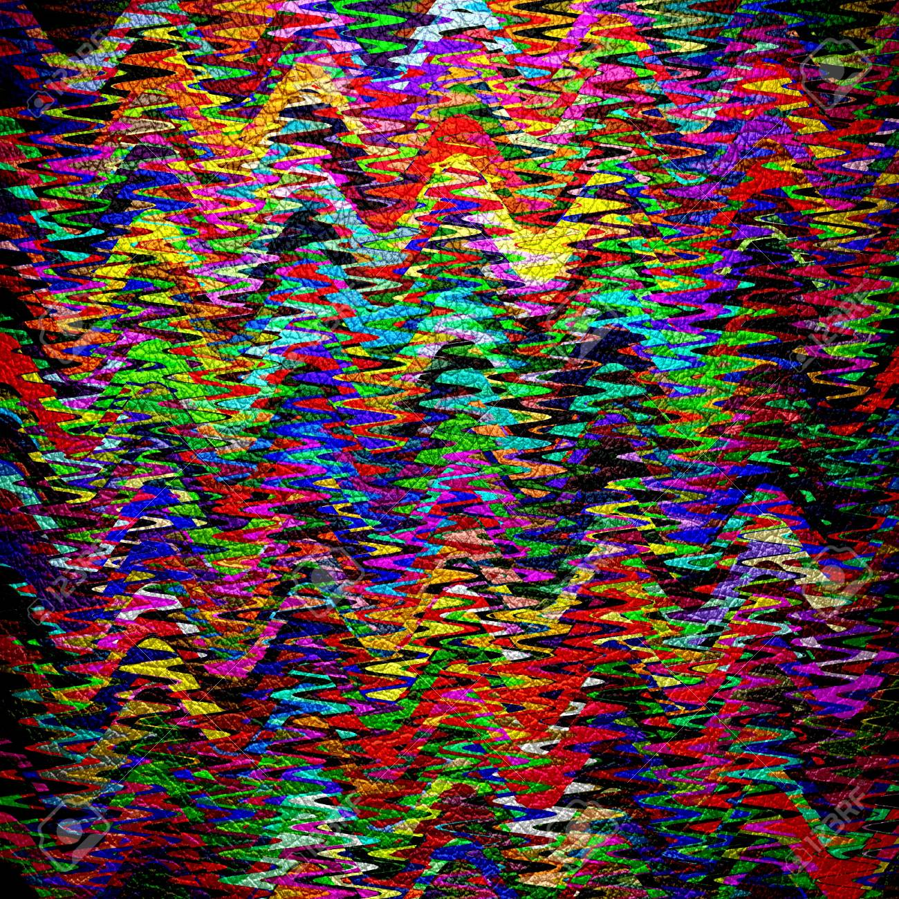 Colorful Abstract Mosaic Leather Background