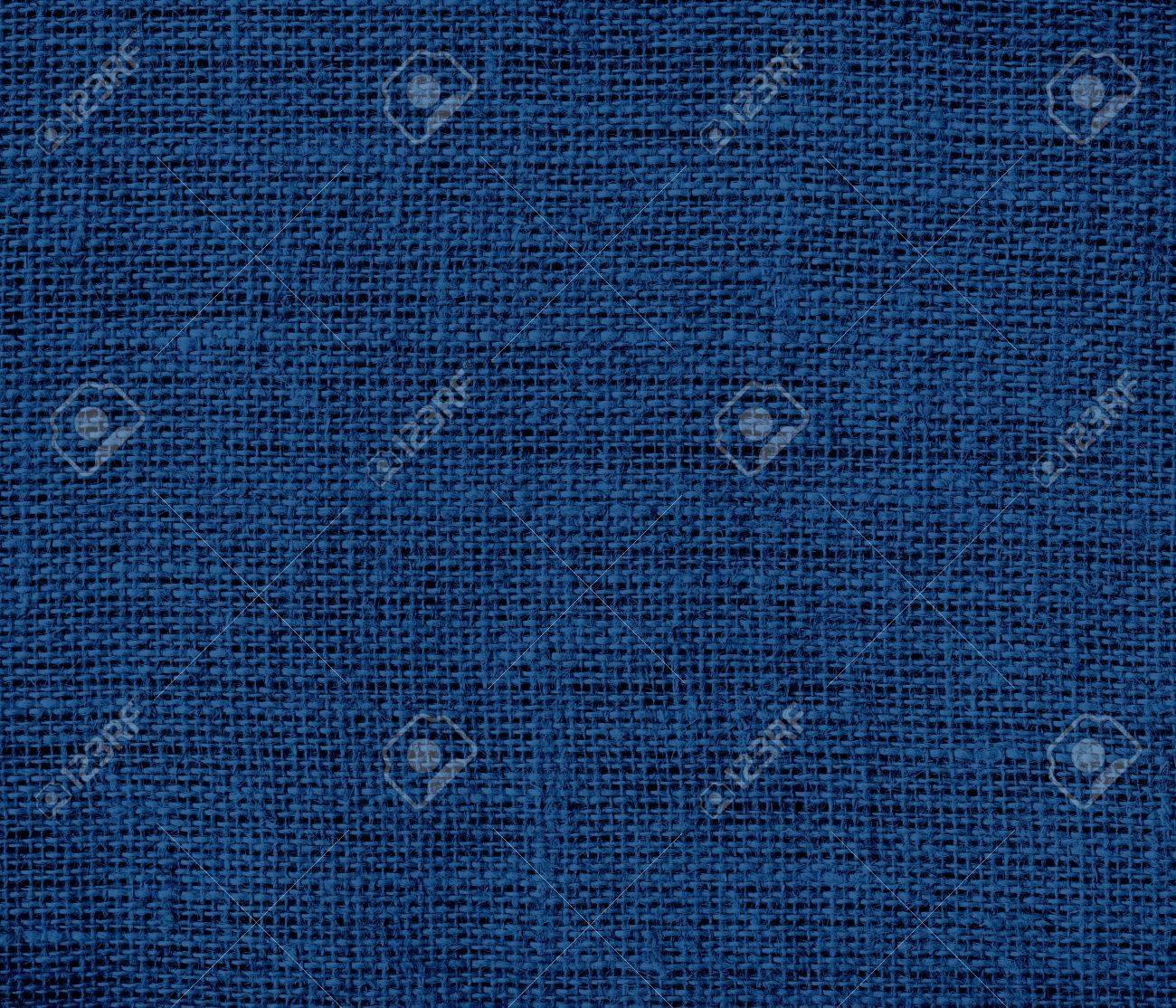 Dark Midnight Blue Burlap Texture Background