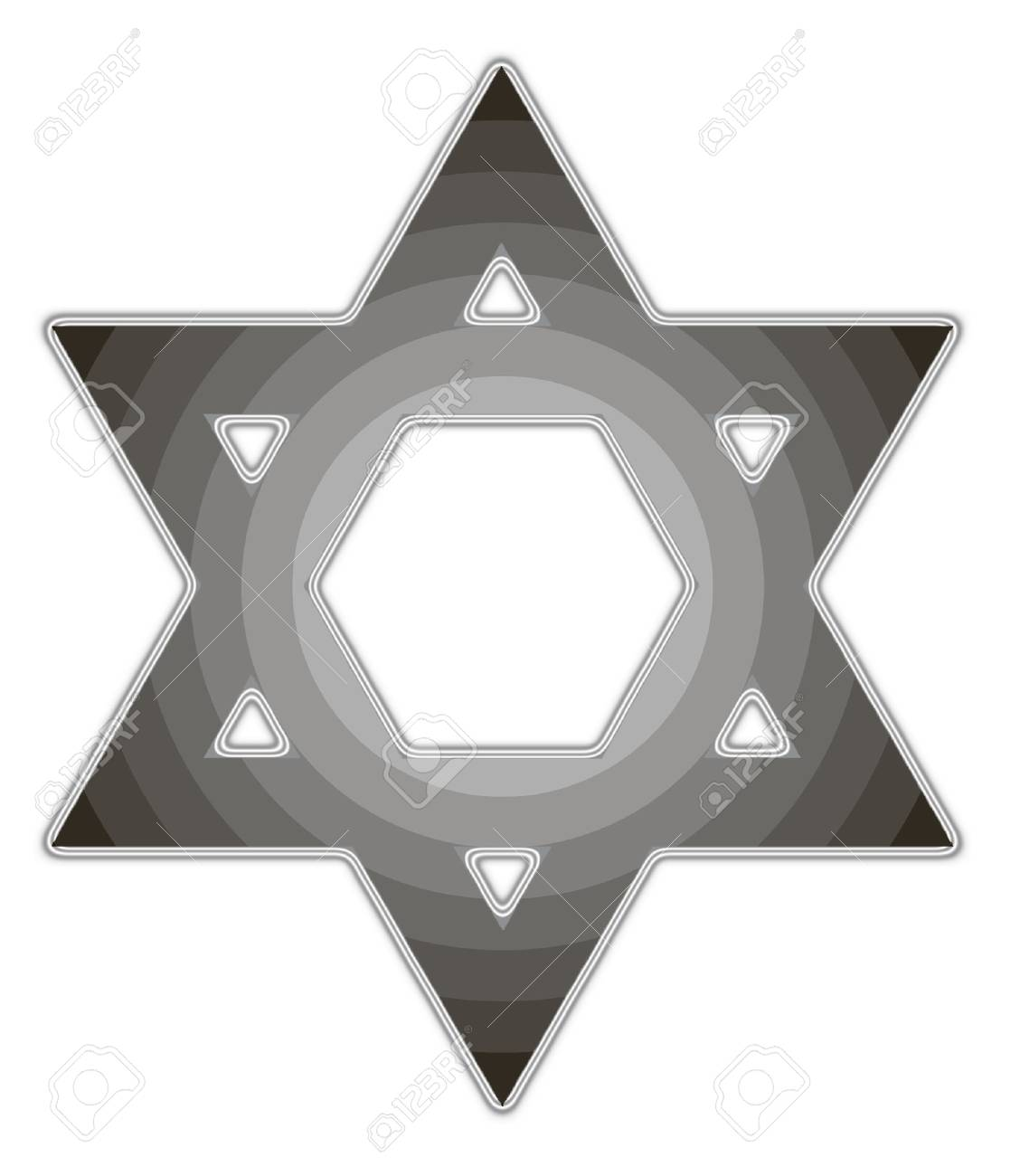image of the Star of David on a white background isolated - 74937618