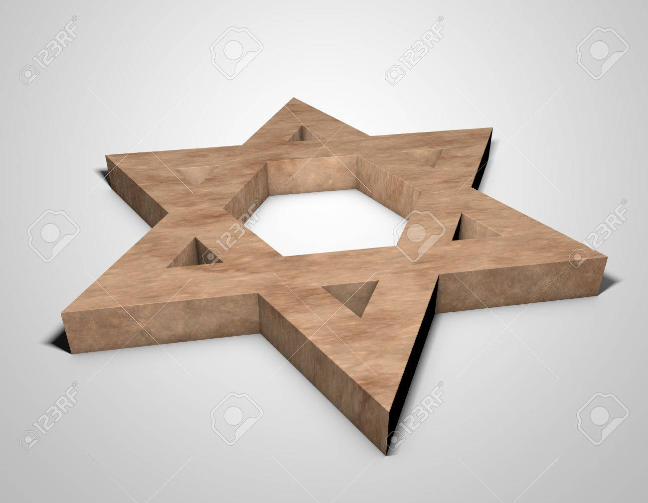 stylized image Star of David made of stone - 74937621