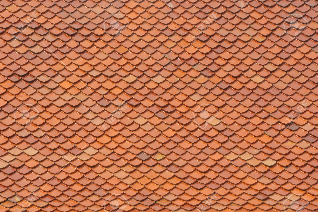 The roof tile pattern styled Thai temple, Bangkok Thailand. Stock Photo - 13523188