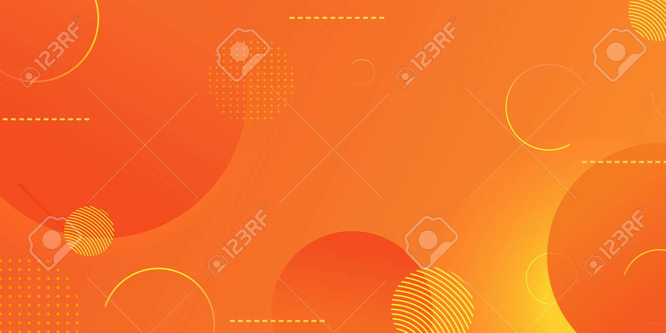 Gradient geometric shape background with dynamic circle abstract, yellow modern color design. - 173272743