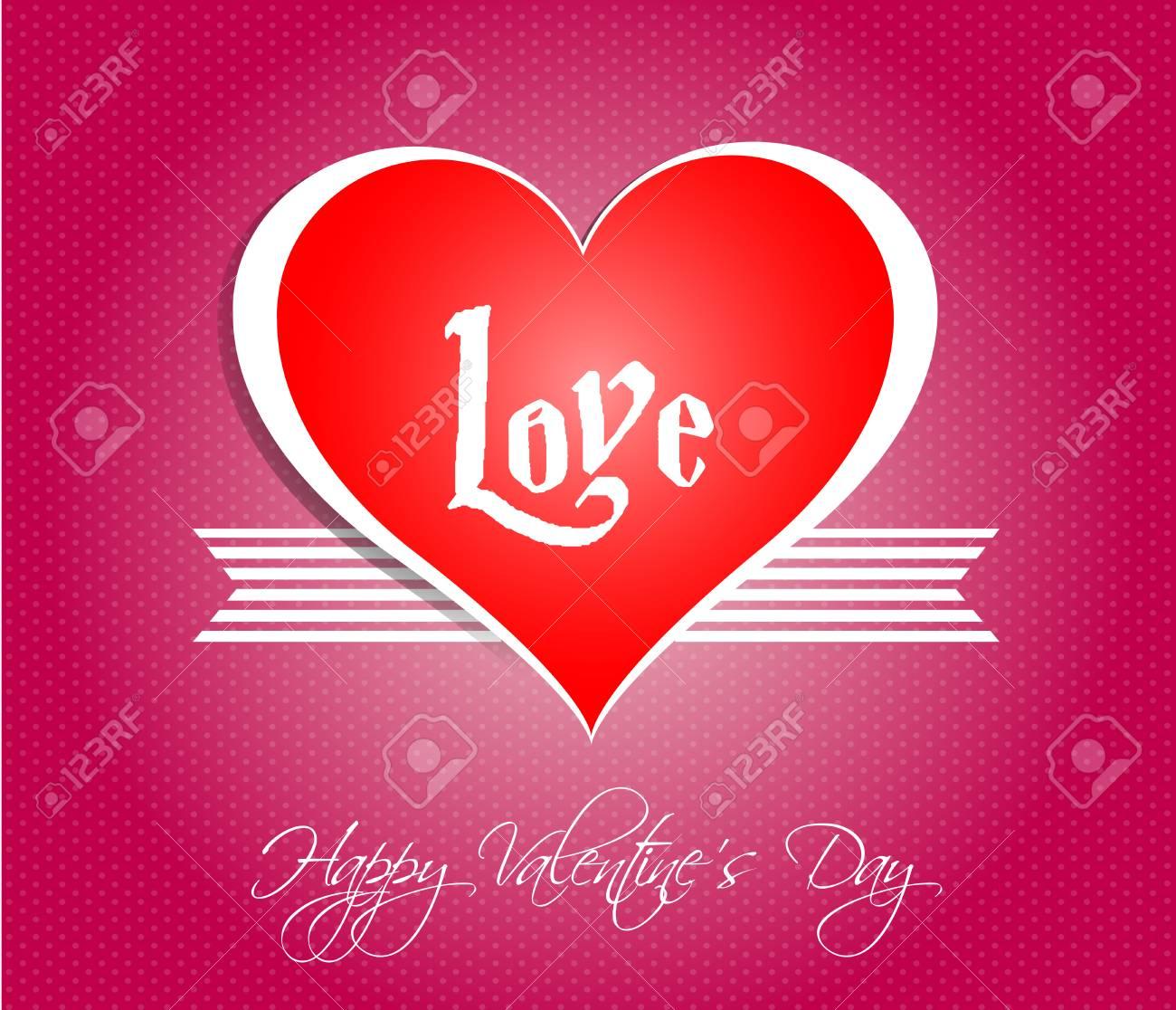 Glücklicher Valentinstag Karten Mit Herzen Lizenzfrei Nutzbare ...