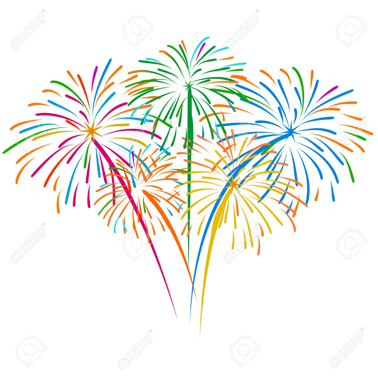 fireworks vector royalty free cliparts vectors and stock rh 123rf com Fireworks Clip Art Fireworks Transparent Background