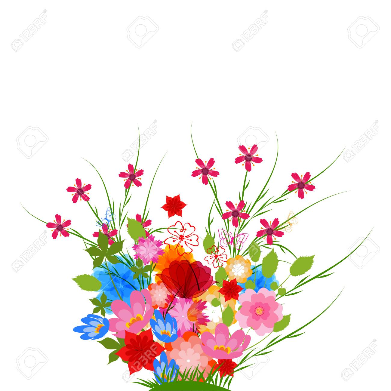 Spring Flowers Background Royalty Free Cliparts Vectors And Stock